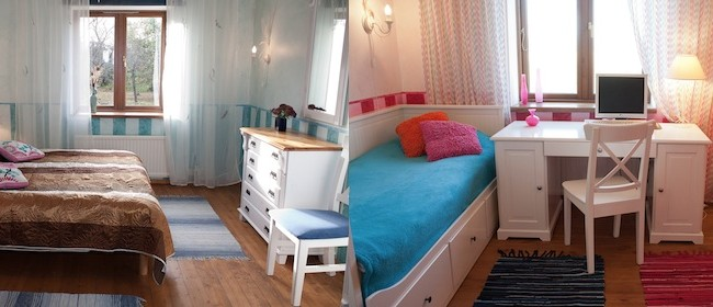 Renovated rooms.